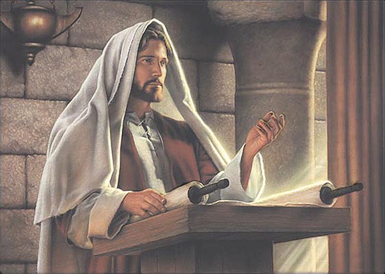 モルモンー神殿で教えるイエス