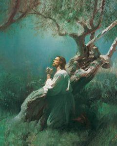 ゲッセマネの園で祈るイエス・キリスト