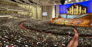 モルモン教の総大会の様子
