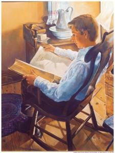 聖典をよく勉強した少年時代のジョセフ