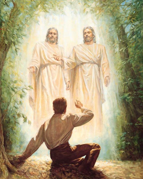 ジョセフスミスが神とキリストにまみえる。