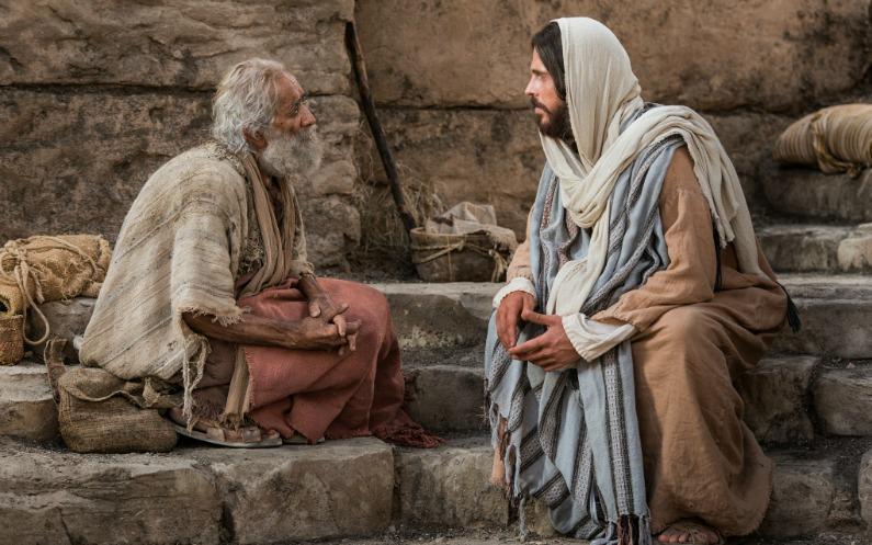 らい病人と話すイエス・キリスト