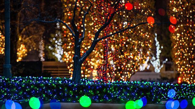 テンプルスクエア、クリスマスライト
