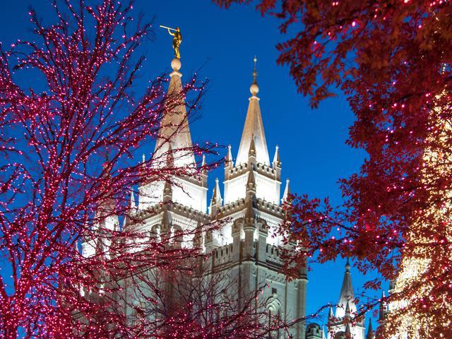 モルモン教ソルトレイク神殿クリスマス