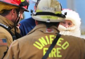 火事現場で活躍したサンタクロース