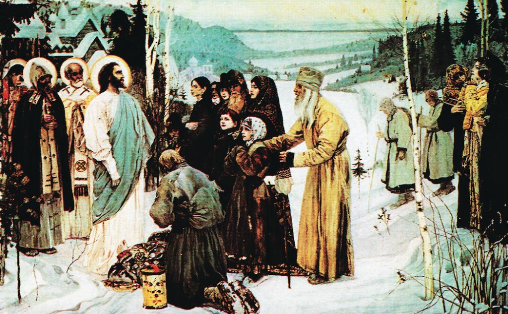 復活したイエスがロシアを訪れる