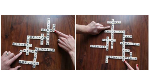 妊娠と不妊の言葉でできたクロスワードパズル