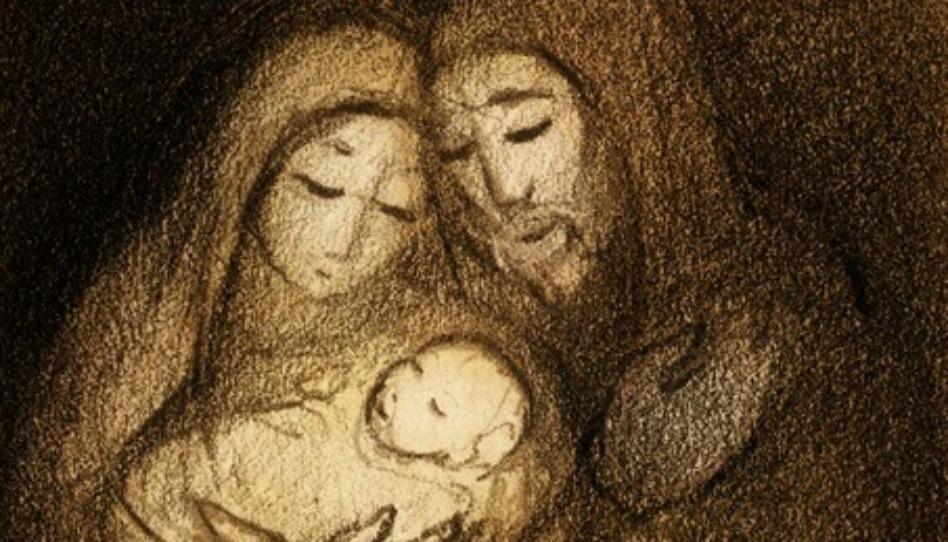 マリアとジョセフに見守られる赤ちゃんイエス