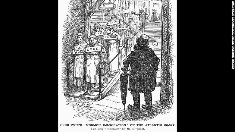 1882年のモルモン教徒を描写する漫画