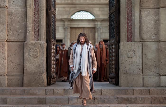 人々から去るイエス・キリスト