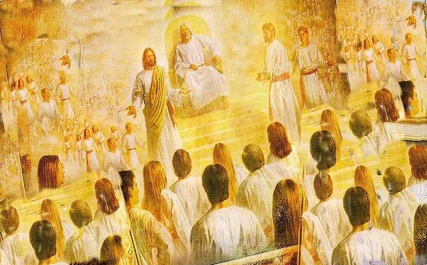 天上の大会議で話すキリスト