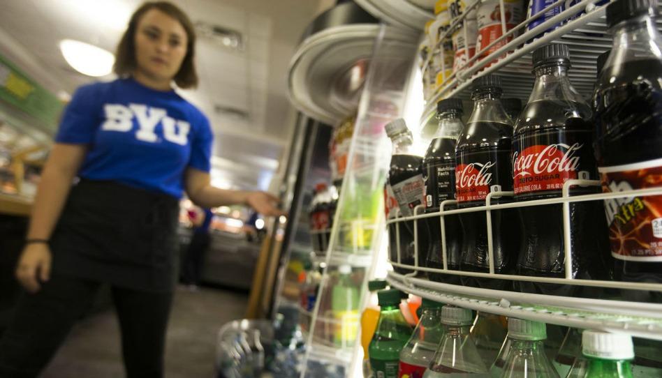 BYU構内でカフェイン飲料が販売される