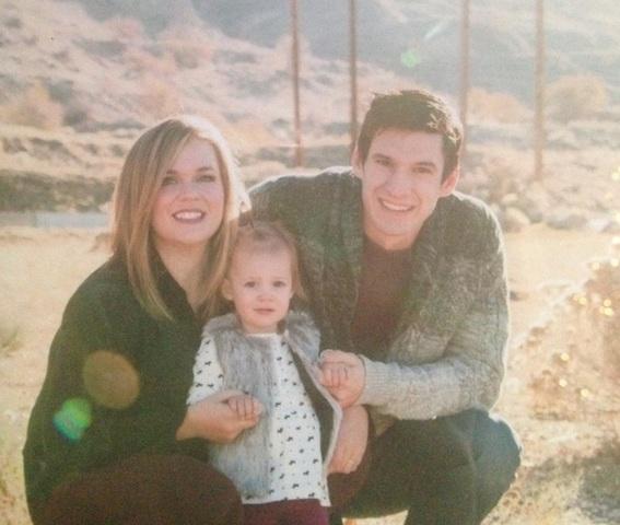総合格闘家ウェスティン・ウィルソン、奥さんと娘さんの家族写真