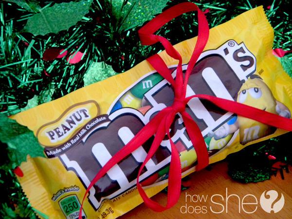 m&mをクリスマスにプレゼントする