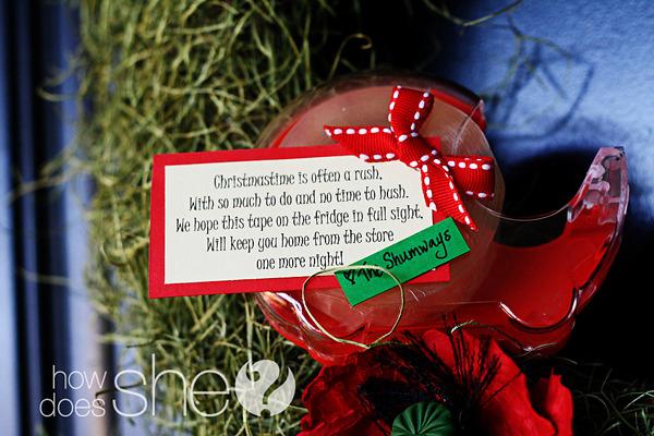 冷蔵庫にくっつくセロテープのプレゼント