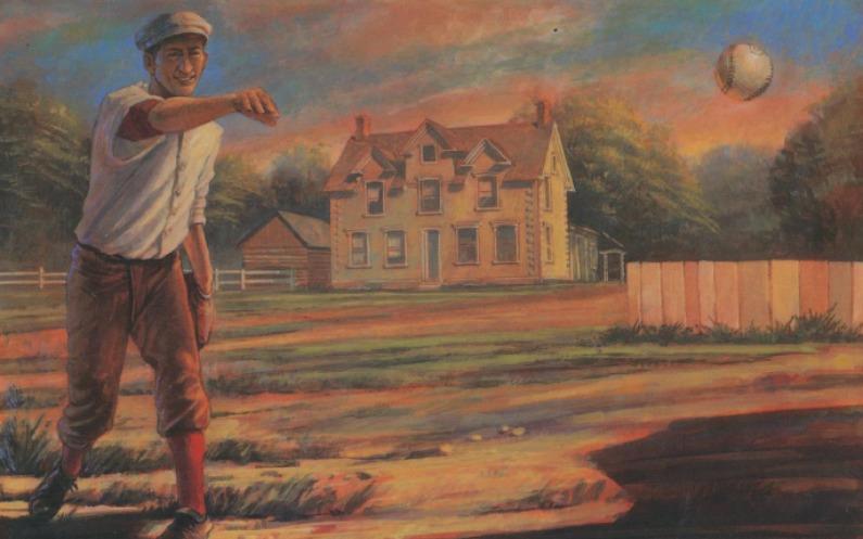 野球ボールを投げる少年ヒーバー・J・グラント