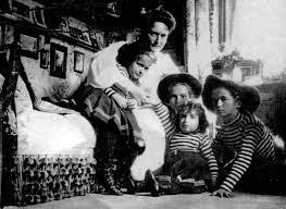 母親と子供5人