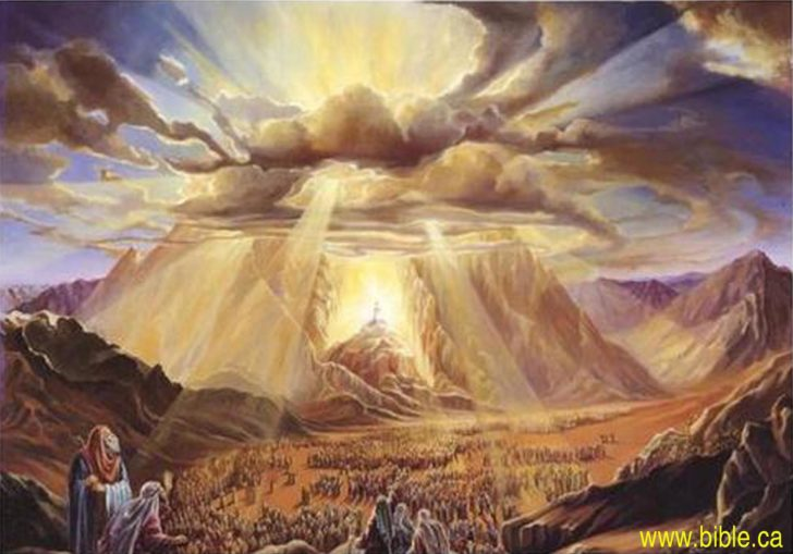 シナイ神学の影響でモーセに従ってエジプトから逃れる民