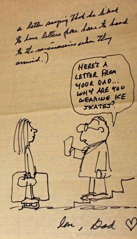 チャールズ・M・シュルツが伝道中の娘に当てた手紙と漫画