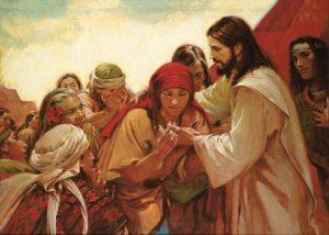 復活されたイエス様がニーファイ人に現れる