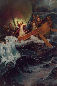 嵐を静めるキリスト